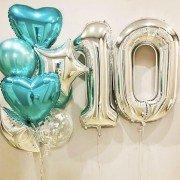 """Гелиевые шары 10 лет """"Время перемен"""""""