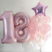 """Шарики на 18 лет нежного розового цвета """"Мелодия ветра"""""""