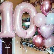 """Шарики на день рождения 10 лет """"Мимимишные"""""""