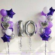 """Шарики на день рождения 10 лет """"Великолепные"""""""