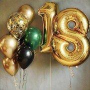 """Шары на день рождения 18 лет """"Искры"""""""