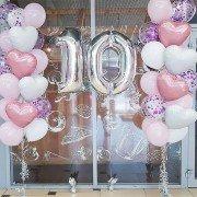 Шары на день рождения ребенку 10 лет с сердцами
