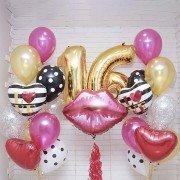 """Шарики на день рождения 16 лет """"Воздушный поцелуй"""""""
