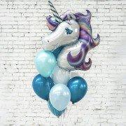 """Воздушные шары девочке на 15 лет """"Радужный единорог"""""""