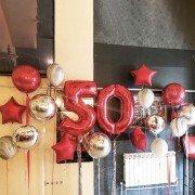 """50 лет воздушные шары """"Яркий праздник"""""""