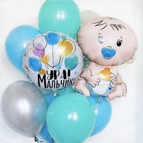 Шарики на рождение мальчика москва