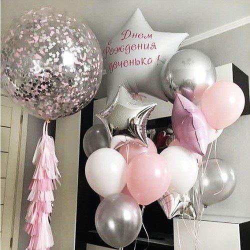 Букеты из шаров на рождение девочки