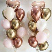 """Воздушные шары на рождение ребенка """"Золотое сердечко"""""""