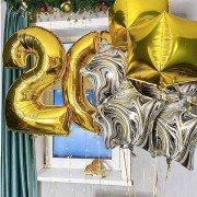 """Шарики 20 на день рождения """"Яркая жизнь"""""""