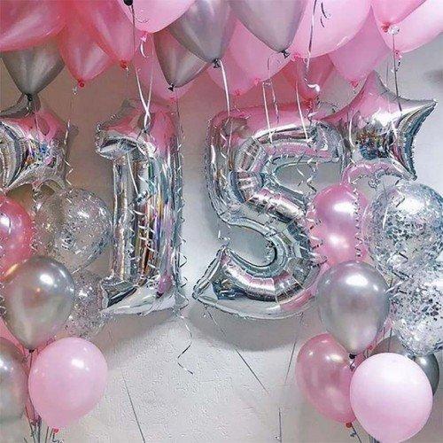 Гелевые шары 15 лет