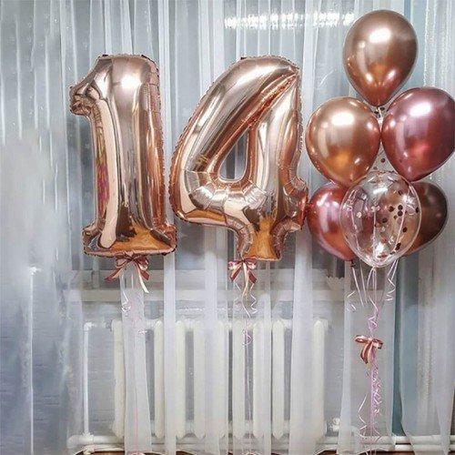Шарики на день рождения 14 лет