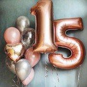 """Шары на день рождения девочке 15 лет """"Любимой доченьке"""""""