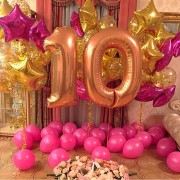 """Композиция шаров на 10 лет девочке """"Волшебный праздник"""""""