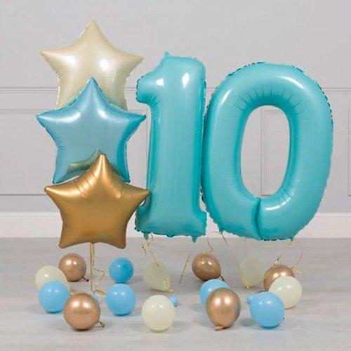 Шары 10 лет мальчику на день рождения