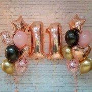 """Шары на день рождения девочке 11 лет """"Розовые мечты"""""""