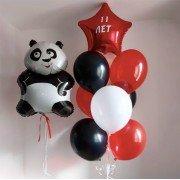"""Воздушные шары 11 лет девочке """"Веселая панда"""""""