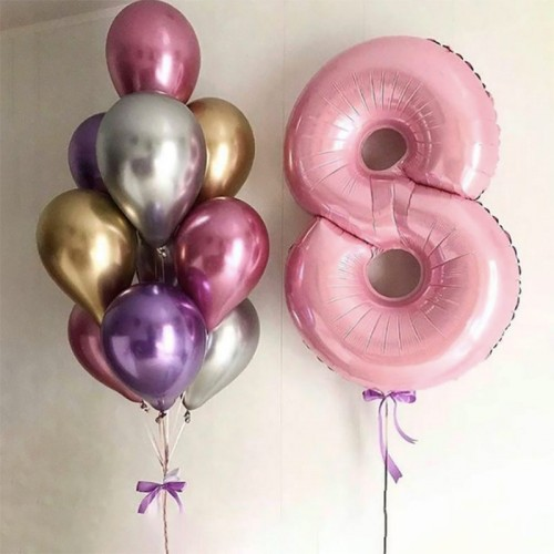 Шарики на день рождения девочке 8 лет