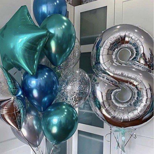 8 лет шары композиции