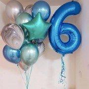 """Воздушные шары мальчику на 6 лет """"Безупречность"""""""