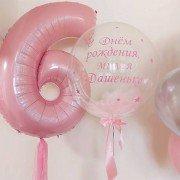 """Воздушные шары на 6 лет девочке """"Невесомость"""""""