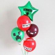 Фонтан шаров на 6 лет в стиле Майнкрафт