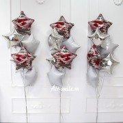 Фонтан шаров на 23 февраля для девушек