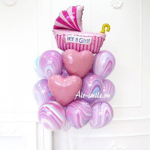 шары на рождение ребенка девочка