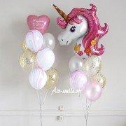 Набор шаров с единорогом на день рождения