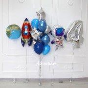 """Шарики на 4 года мальчику """"Космический корабль"""""""