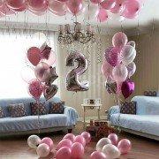 Композиция шариков на 2 года девочке Волшебный подарок