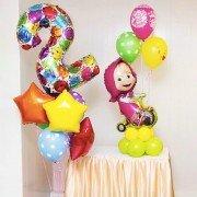 Шары девочке на 2 года Маша в цирке