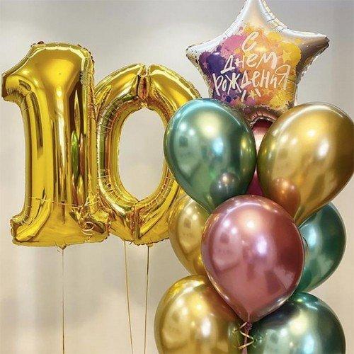 Шарики на день рождения 10 лет