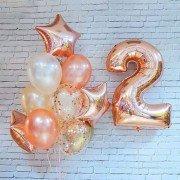 """Шарики на день рождения ребенка 2 года """"Рассвет"""""""