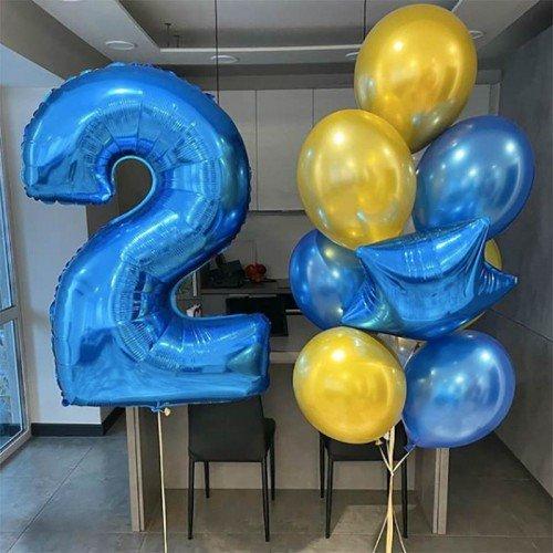 Воздушные шары на 2 года в подарок Москва