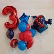 """Шарики на день рождения мальчику 3 года """"Человек паук"""""""