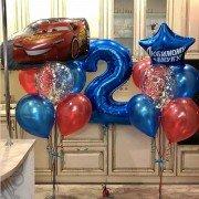 """Шары мальчику на 2 года """"Красная машина"""""""