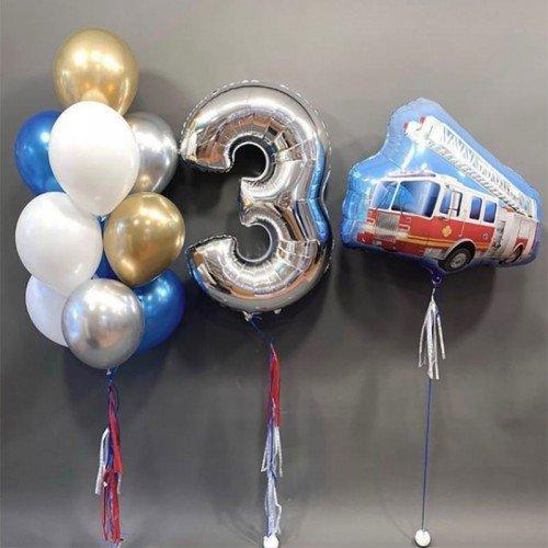 Воздушные шарики мальчику на 3 года