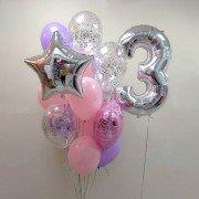 """Шары на день рождения девочке 3 года """"Грезы"""""""