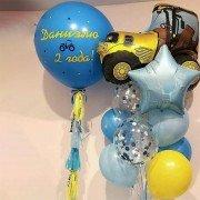 """Набор шаров для мальчика 2 года """"Желтый трактор"""""""