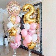 Шарики на 2 годика Розовые сны