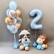 Шары на день рождения 2 года Лучшие друзья