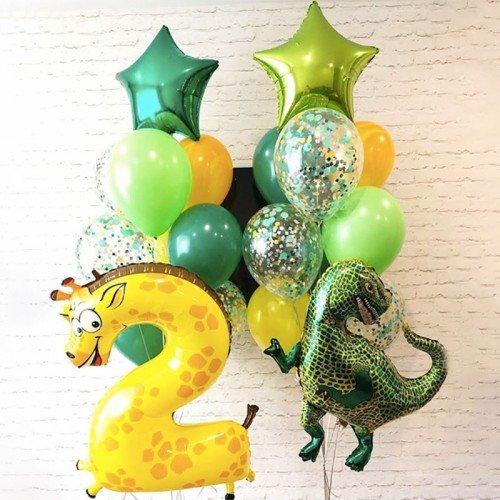 Шарики на день рождения ребенка 2 года с цифрой