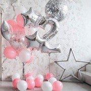 """Набор шаров на 2 года девочке """"Звездочка"""""""