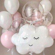 """Комплект шаров на 1 год """"Воздушные облака"""""""