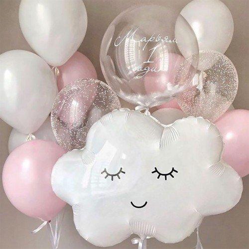 Комплект шаров на 1 год рождения