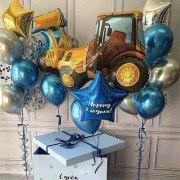 Комплект шаров на 2 года с машинками