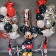 """Комплект шаров в стиле Микки Мауса """"Первый день рождения"""""""