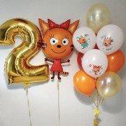 """Сет шаров три кота """"Поздравление от Карамельки"""""""