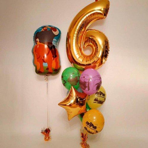 Набор шариков коллекция три богатыря с цифрой