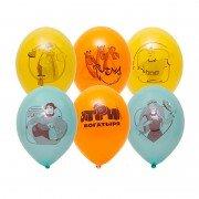 """Воздушные шарики трех цветов """"Три богатыря"""""""